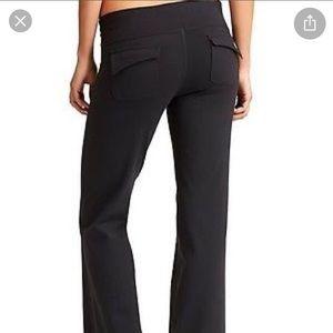 Black Athleta straight leg pants with pockets